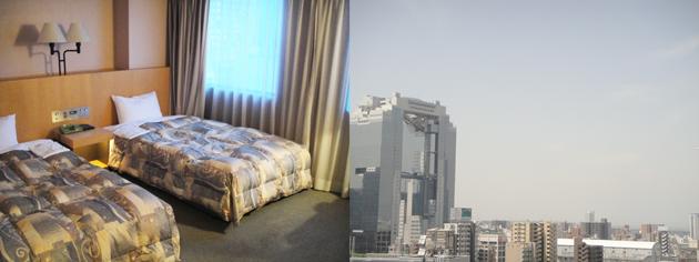 ホテルコムズ大阪 スカイビルが見える部屋