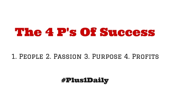 The 4 P's Of Success