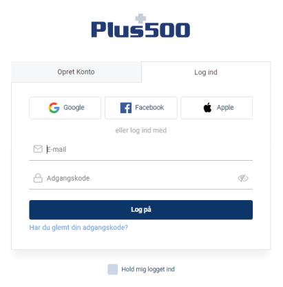 Åben Plus500 konto