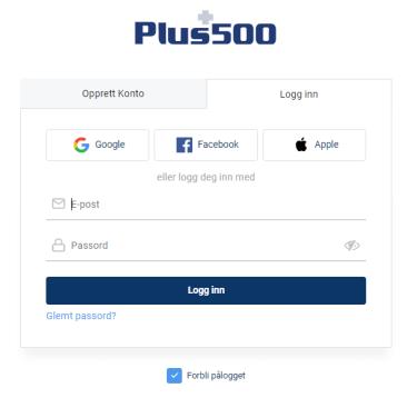 Åpne en Plus500-konto