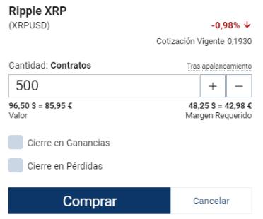 Ripple trading Plus500