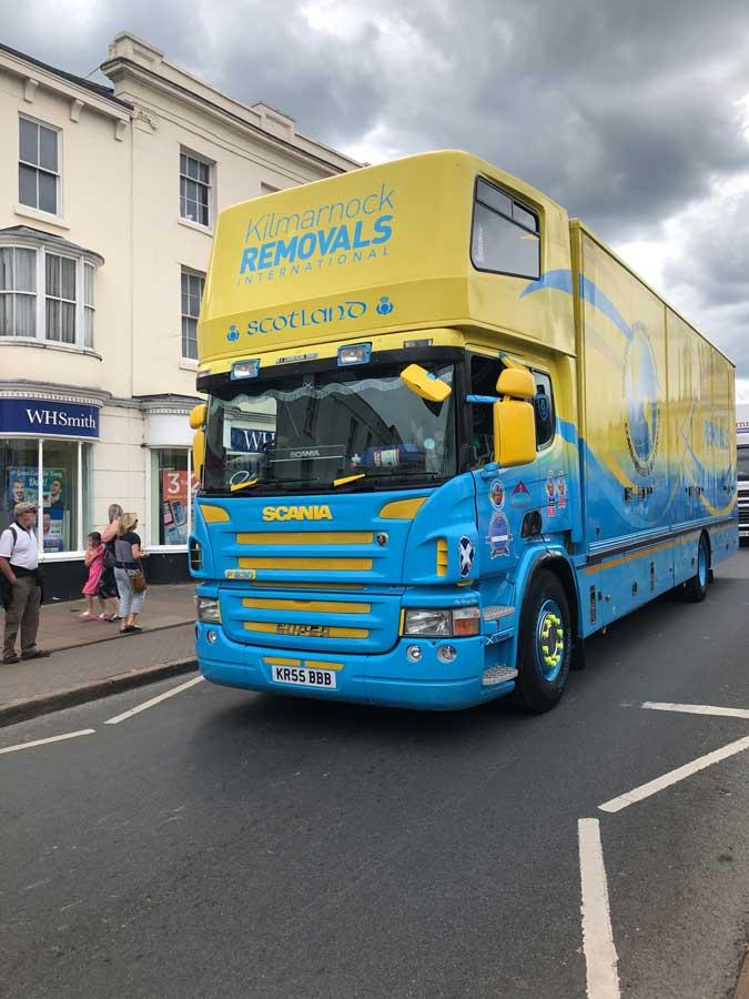 Kilmarnock removals lorry