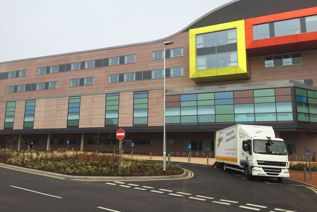 Alder Hey Children's Hospital relocation with BCL and Pluscrates crate hire