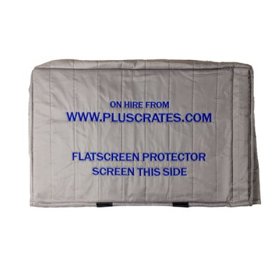 Grey quilted screen protector for computer monitors