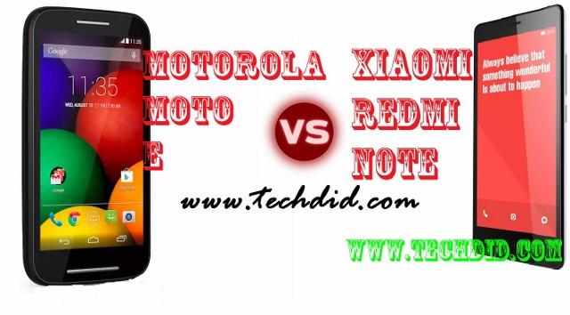 Xiaomi Redmi NotevsMotorola Moto E