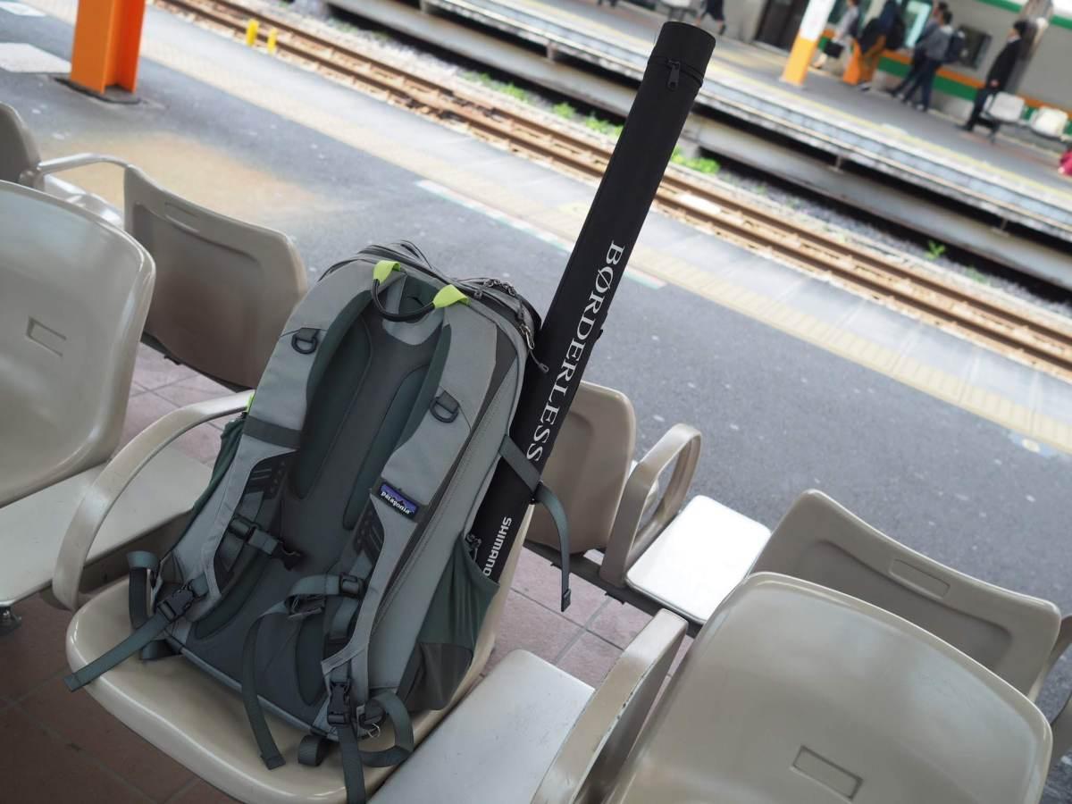 1泊旅行でパックロッドを持ち運ぶ