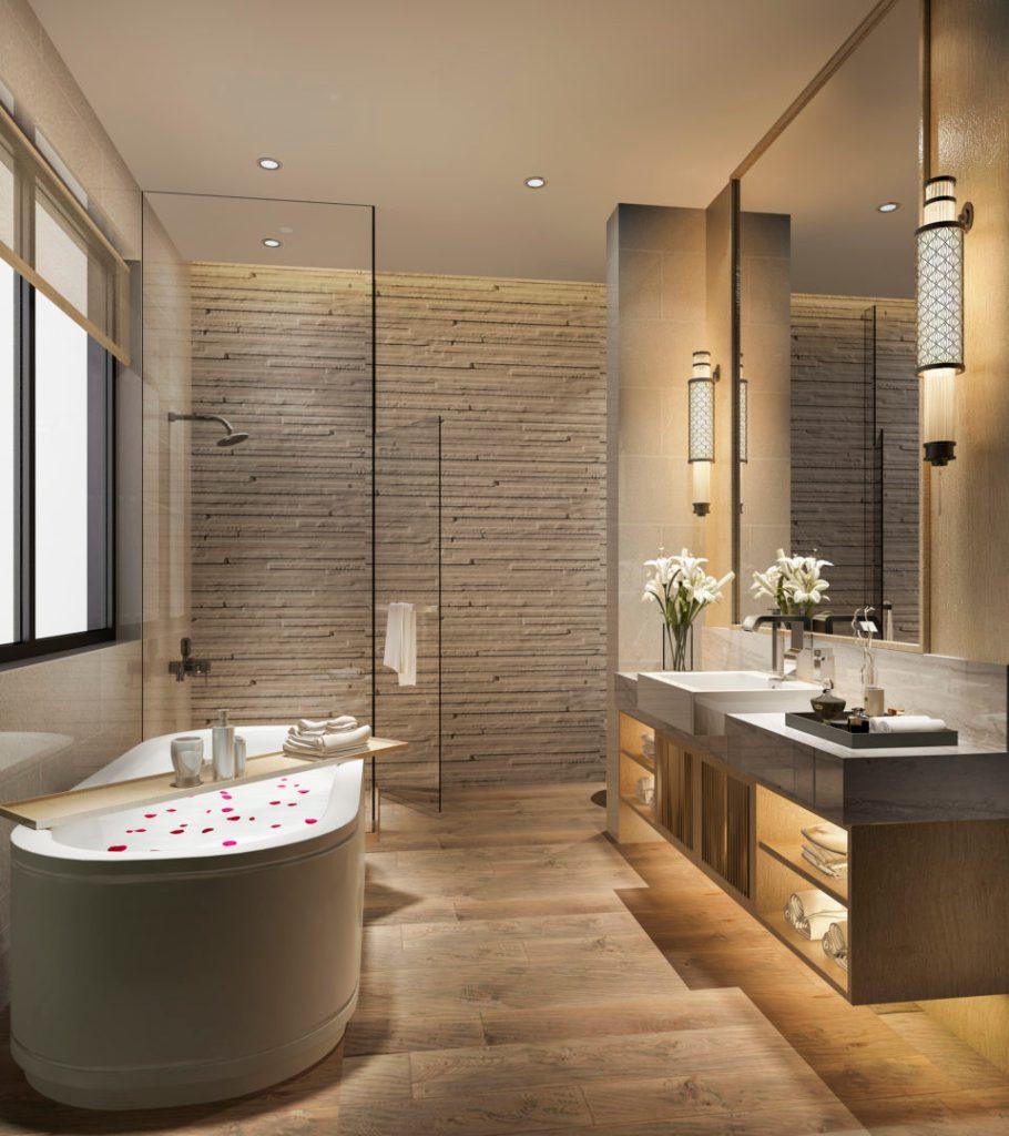 3d rendering interior of a modern bathroom