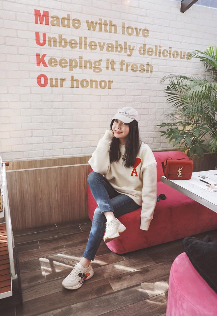 難得來推薦好吃的早午餐店 Muko Brunch + AMI大愛心衛衣