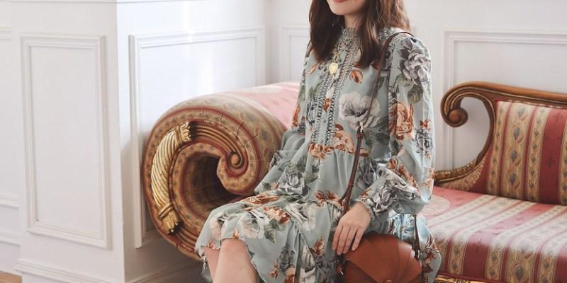 Ecooking對折+Chicwish綠色花洋裝 + Loewe胸針65折 + Balenciaga Cagole 73折 + 必買Revive 46折套裝