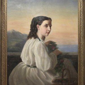Портрет «Девушка с венком»