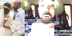 Watch Nude Video Of Adesua as Banky W mistakenly Shares it On Snapchat