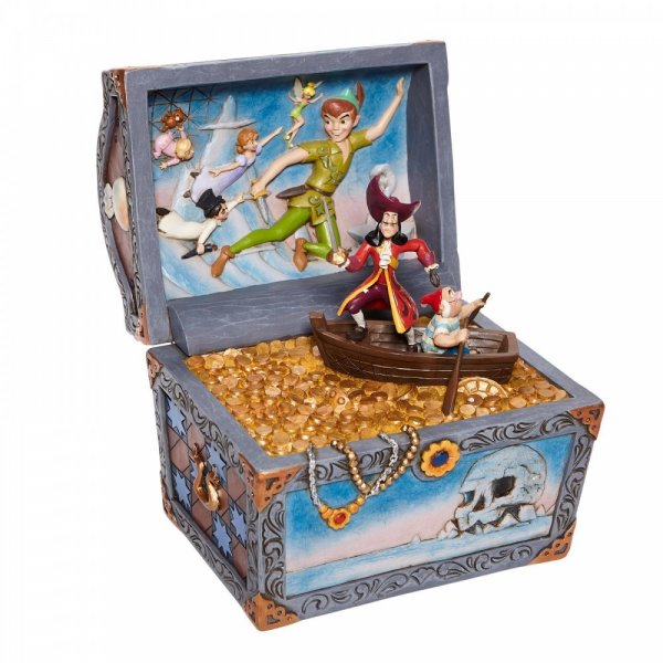 Treasure strewn Tableau - Peter Pan Flying Scene Figurine