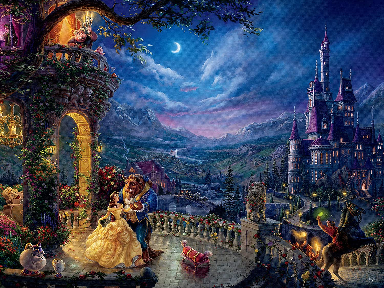 Disney1000pc Beauty& the Beast Thomas Kinkade Puzzle