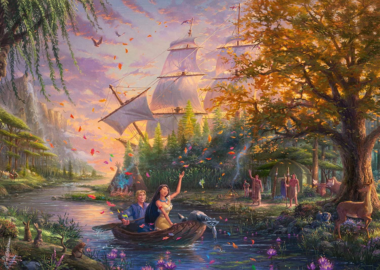 Disney 1000pc Pocahontas Thomas Kinkade Puzzle