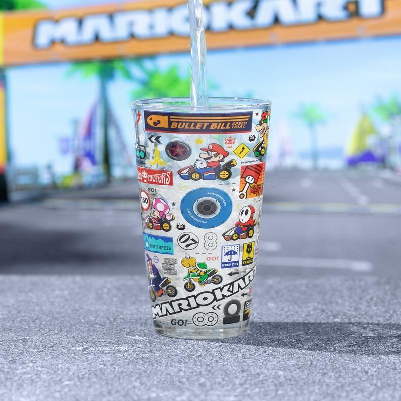 Mario Kart Glass