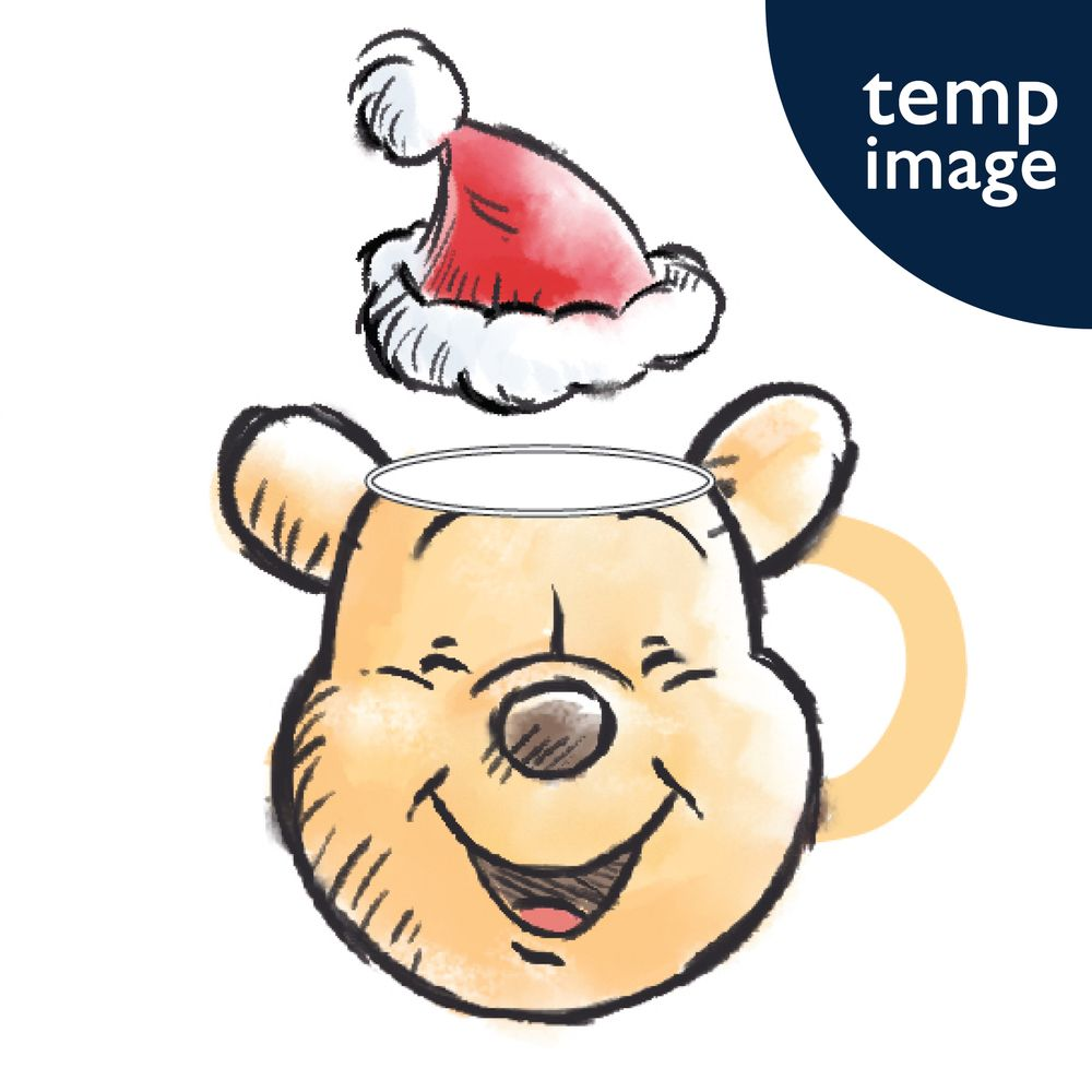 DISNEY WINNIE 3D RELIEF CHRISTMAS MUG