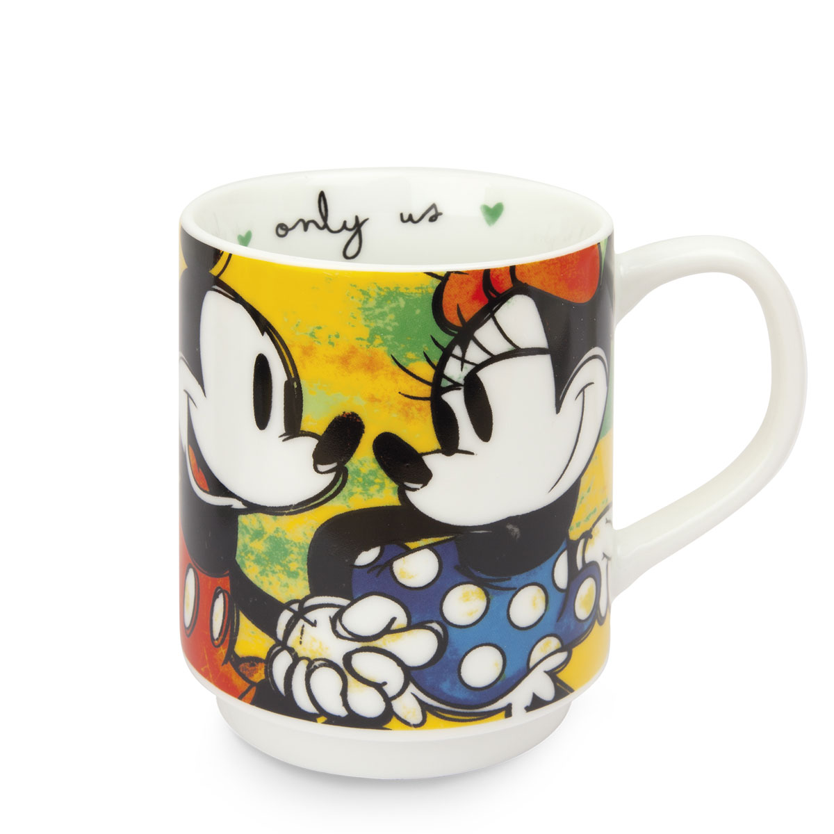 Green Mickey Set - 2 Stackable Mugs+2 Placemat