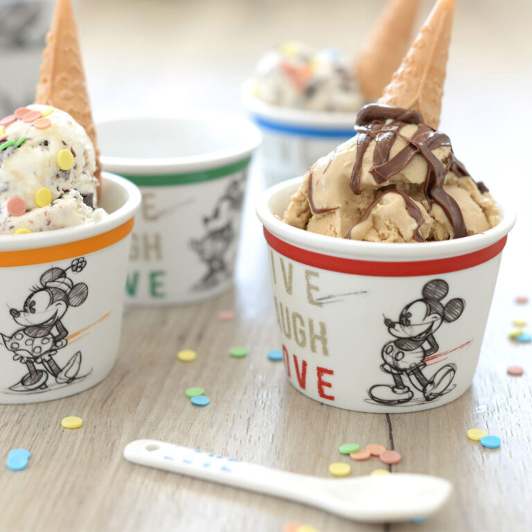 Mickey Cup Blue Ice-Cream With Spoon Live Laugh Love