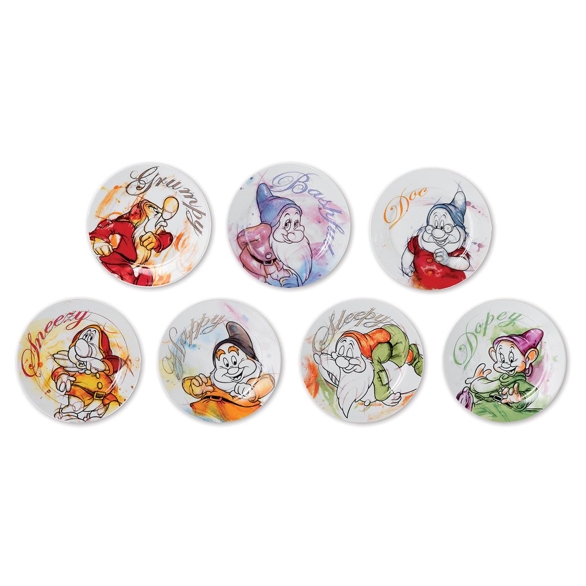7 Dwarfs Set Plates Dessert - Disney Home