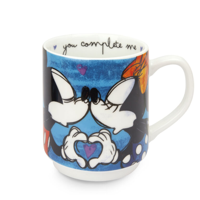 Blue Mickey Mouse Set - 2 Stackable Mugs + 2 Placemat Pp