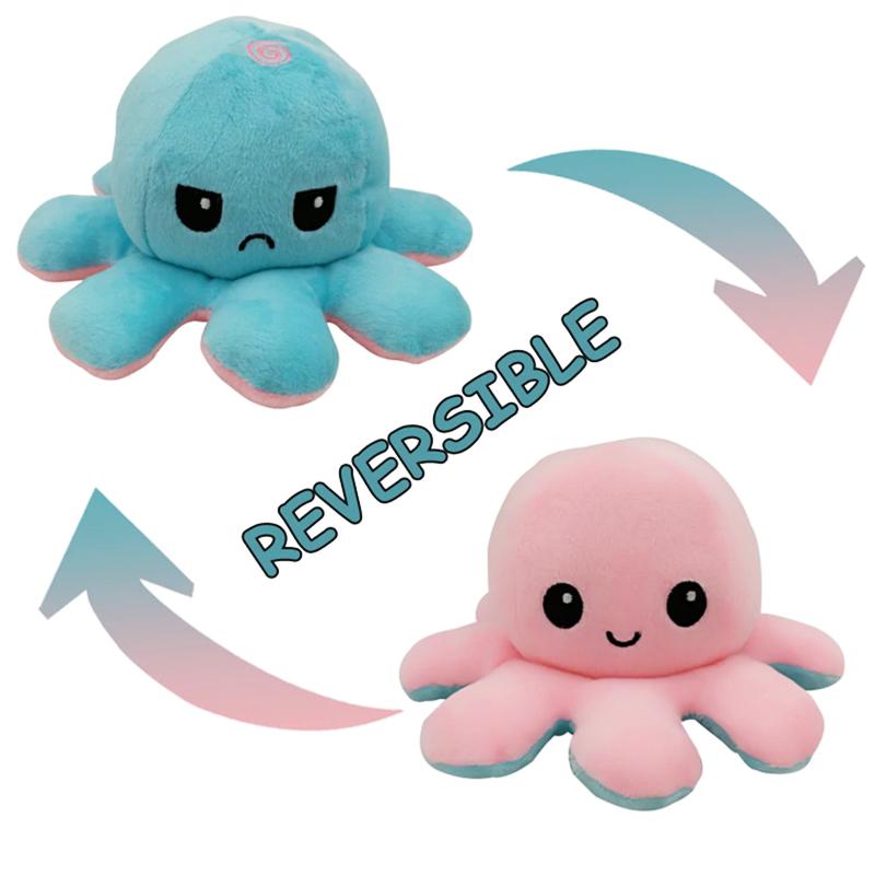 Pink & Aqua Reversible Octopus