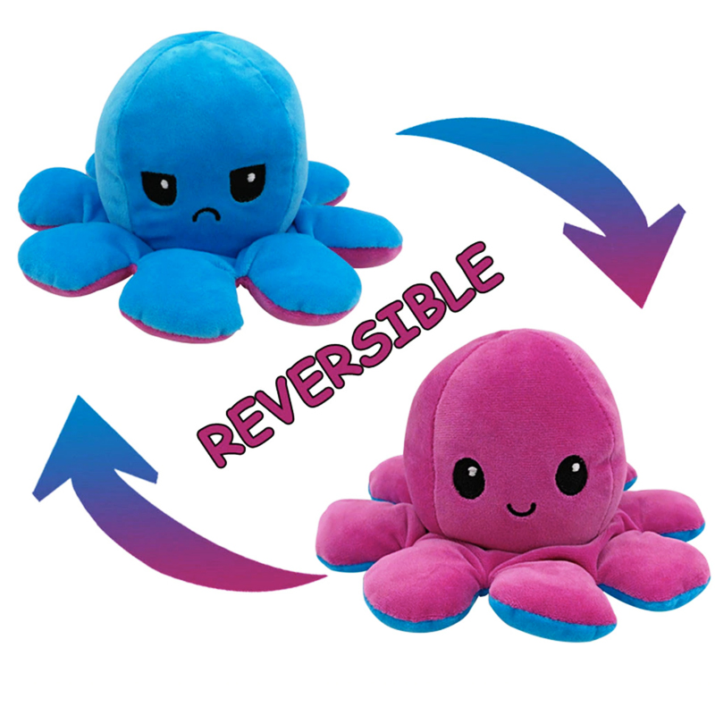 Blue & Purple Reversible Octopus