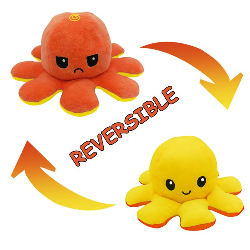 Orange & Yellow Reversible Octopus