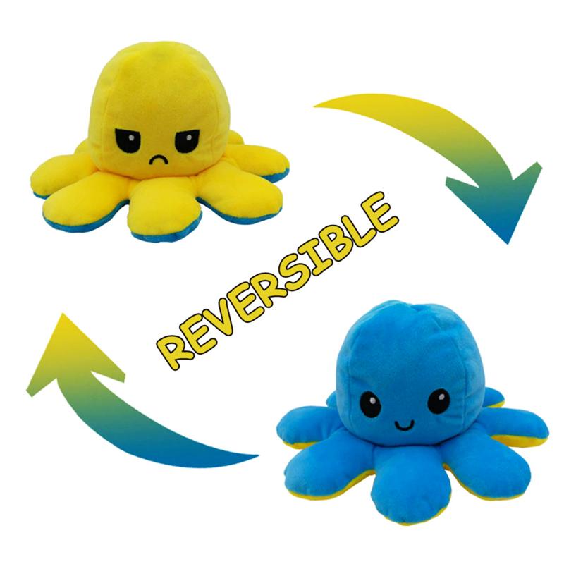 Yellow & Blue Reversible Octopus
