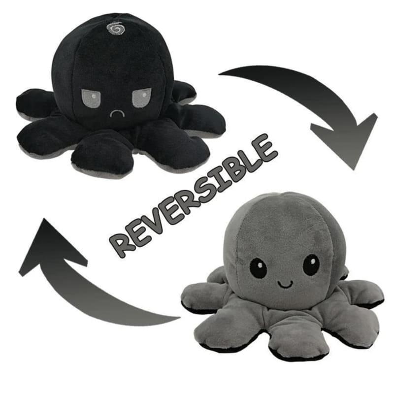Reversible Mood Octopus Black & Grey