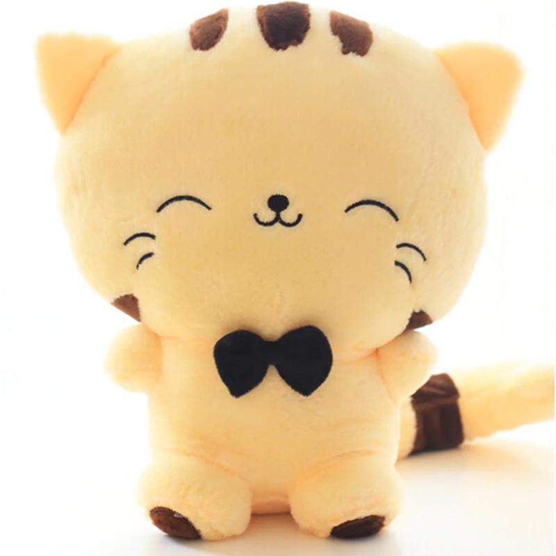 Stuffed Kawaii Cat Plush with Big Face