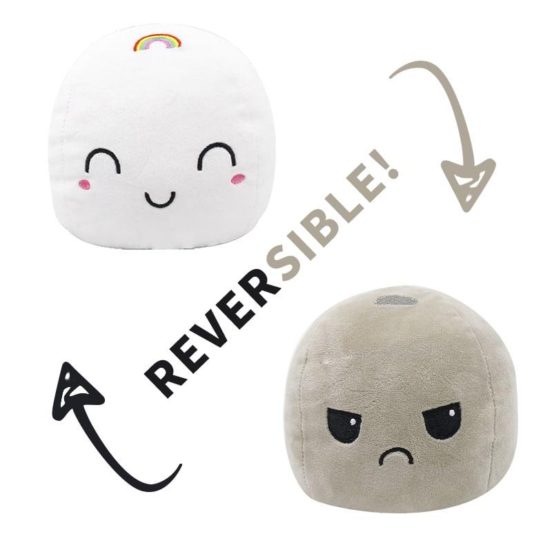 Reversible Emotional Cloud Plush Toy