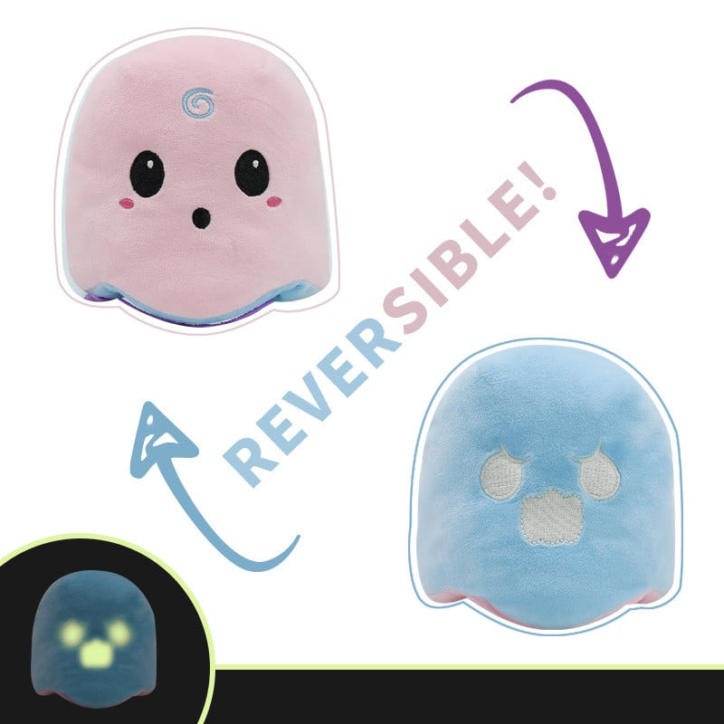 Pink & Blue Reversible Ghost Plush Toy