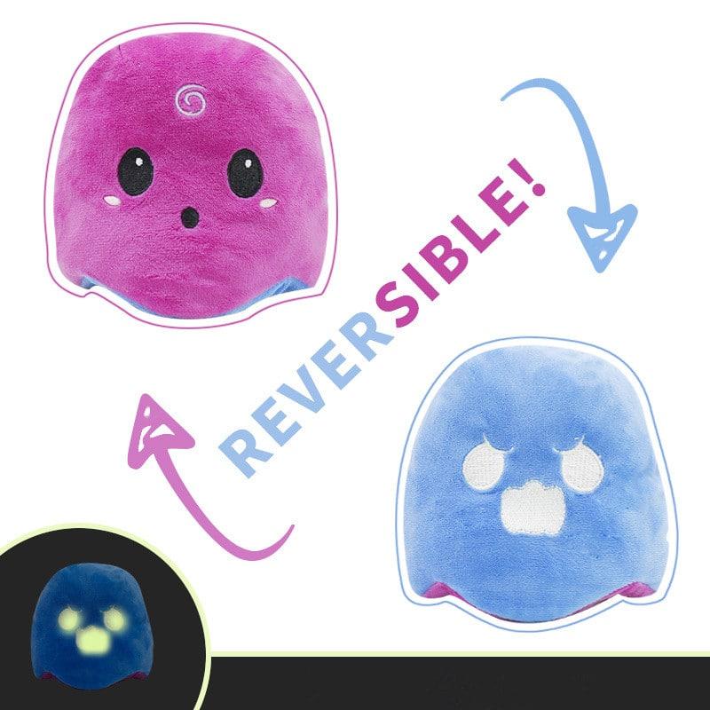Purple & Blue Reversible Ghost Plush Toy