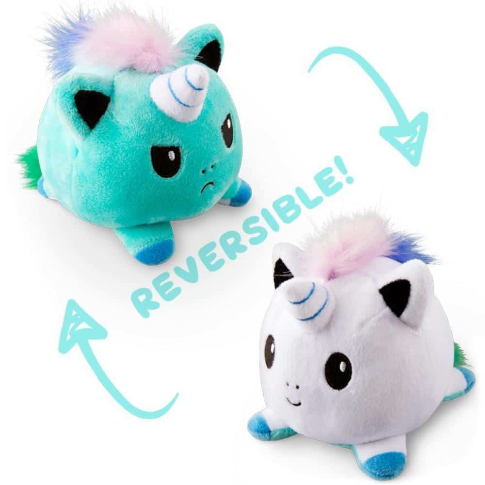 Reversible Mood Unicorn Plush Toy