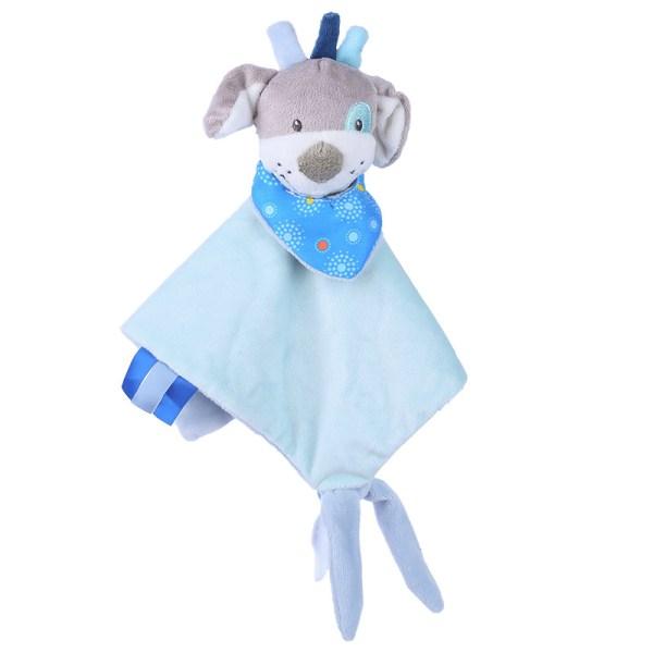 Baby Multifunctional Teether Comforting Towel Blue Dog