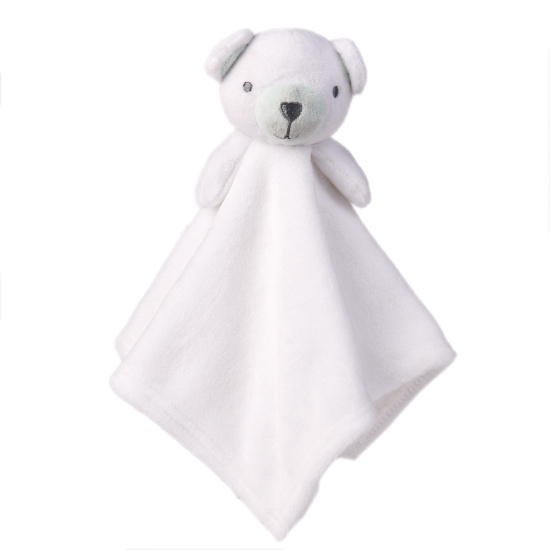 Baby Multifunctional Teether Comforting Towel White Bear
