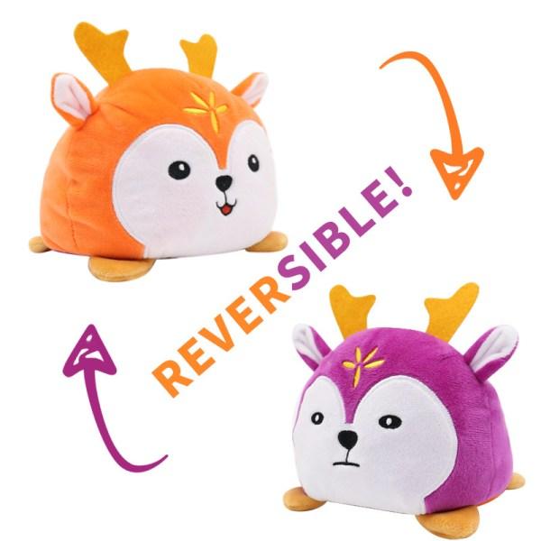 Reversible Stuffed Deer Plush Toy