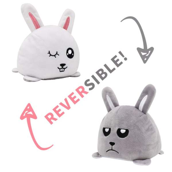 Reversible Stuffed Rabbit Plush Toy