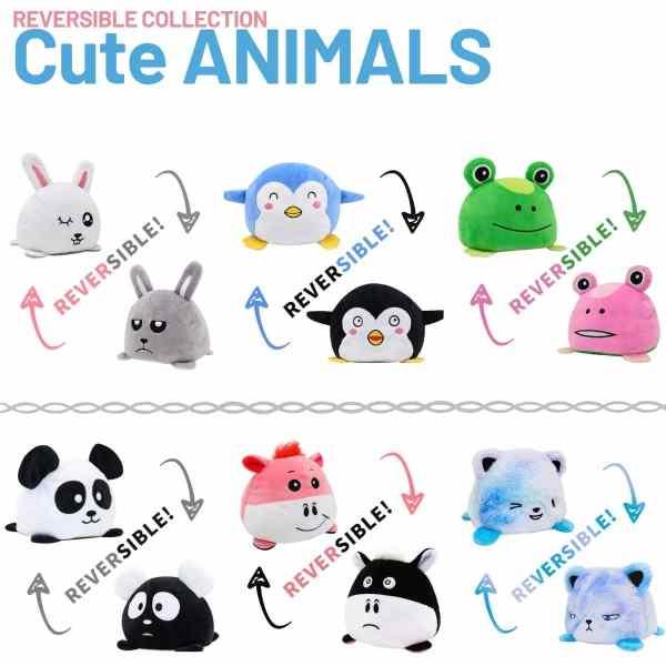 Reversible Cute Pets Plush Toys