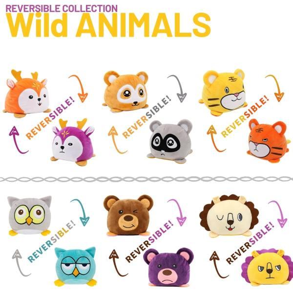 Reversible Wild Animals Plush Toys