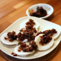 Recipes - Chwee Kueh (Water Rice Cakes with Preserved Turnip)