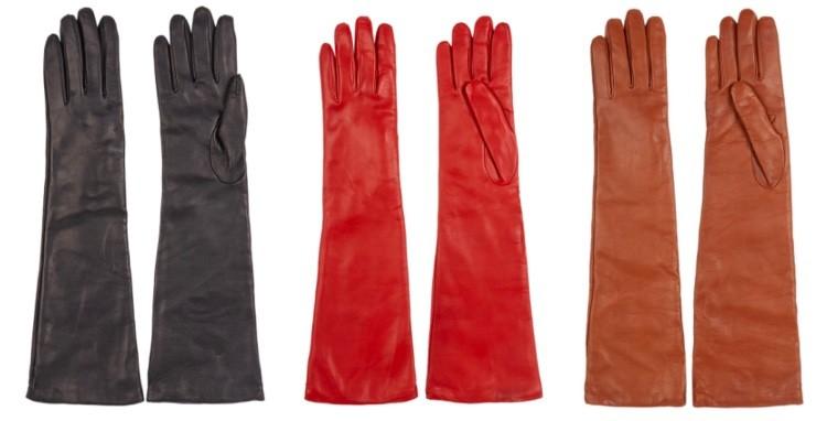 lange leren handschoenen