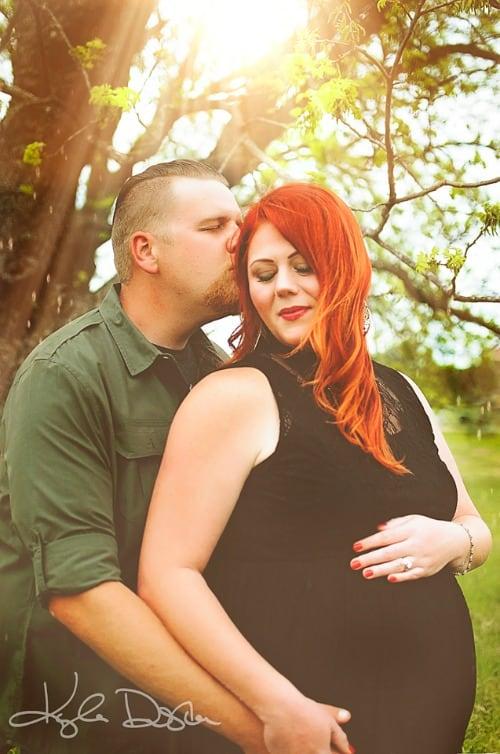 Plus Size Baby Bump Couples Photo