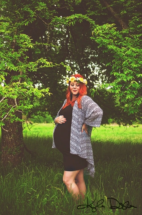 plus size maternity photo