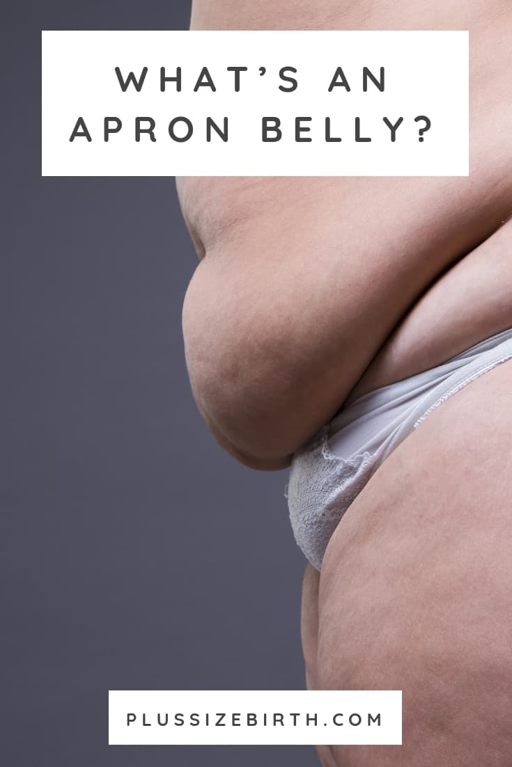 apron belly, mother's apron, hanging belly