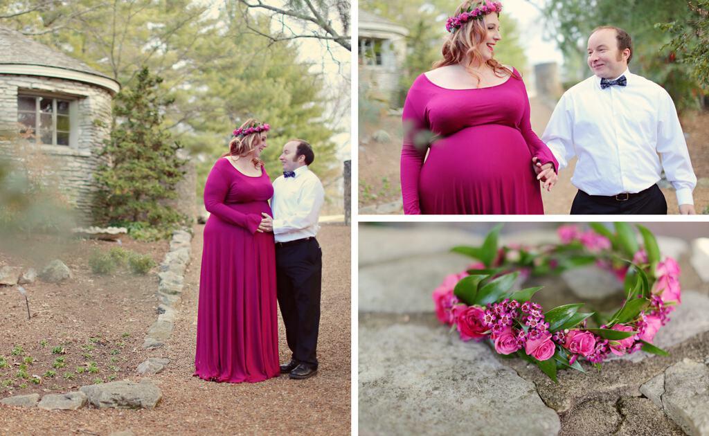 Whimsical Plus Size Maternity Photo Shoot