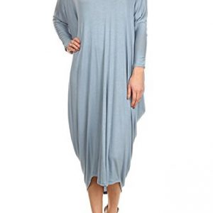 12-Ami-Solid-V-Neck-Long-Sleeve-Drape-Midi-Dress-Made-in-USA-0