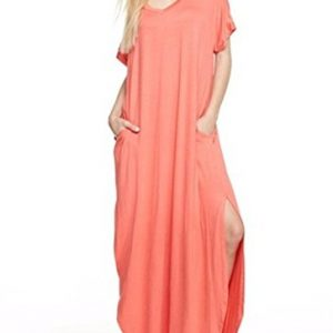 12-Ami-Solid-V-Neck-Pocket-Loose-Maxi-Dress-Made-in-USA-0