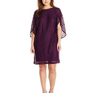 AGB-Womens-Plus-Size-Tulip-Sleeve-Soft-Scalloped-Lace-Sheath-Dress-0