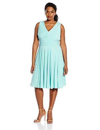 papell s plus size banded bodice pleated